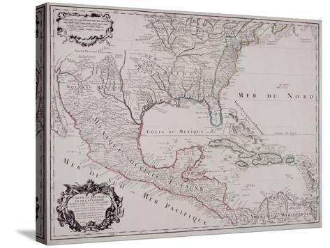 Map of North and Central America, 1703--Stretched Canvas Print