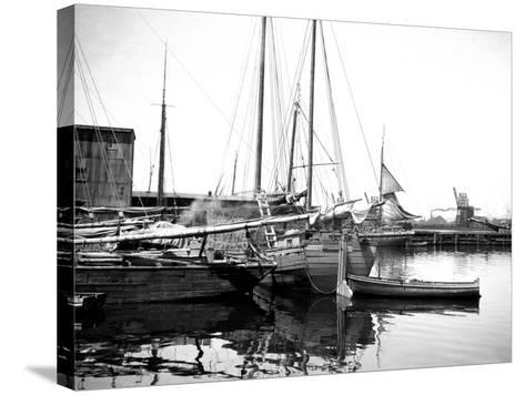 Quebec Harbor, Canada-Edward Hungerford-Stretched Canvas Print