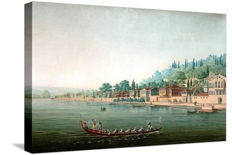 Vue De La Partie Central De Buyuk-Déré Ca. 1803-1809-Antoine Ignace Melling-Stretched Canvas Print