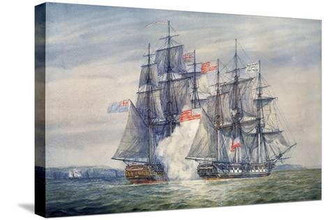 Capture of the Chesapeake, June 1, 1813-Irwin Bevan-Stretched Canvas Print