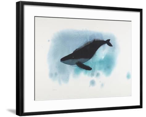 Aqua Deep Whale-Claus Hoie-Framed Art Print