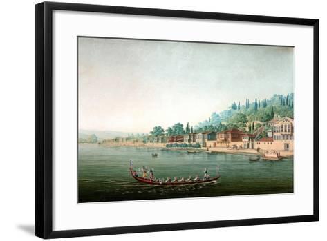 Vue De La Partie Central De Buyuk-Déré Ca. 1803-1809-Antoine Ignace Melling-Framed Art Print