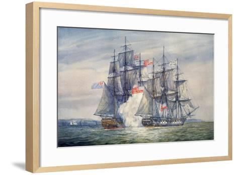 Capture of the Chesapeake, June 1, 1813-Irwin Bevan-Framed Art Print