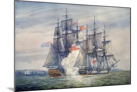 Capture of the Chesapeake, June 1, 1813-Irwin Bevan-Mounted Giclee Print