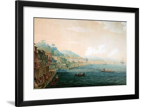 Vue De Village De Tarapia on the Bosporus Ca. 1803-1809-Antoine Ignace Melling-Framed Art Print