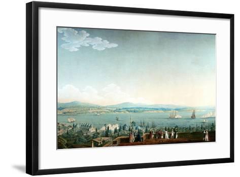 Vue De Scutari Prise À Perá Ca. 1803-1809-Antoine Ignace Melling-Framed Art Print