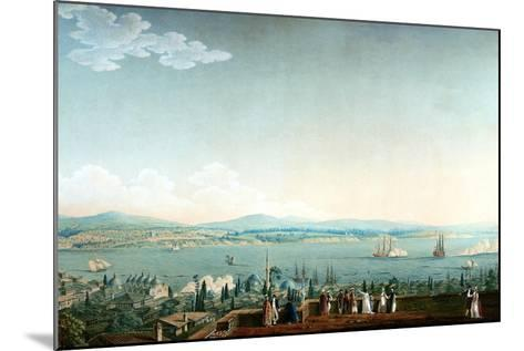 Vue De Scutari Prise À Perá Ca. 1803-1809-Antoine Ignace Melling-Mounted Giclee Print