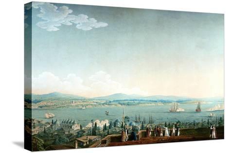 Vue De Scutari Prise À Perá Ca. 1803-1809-Antoine Ignace Melling-Stretched Canvas Print