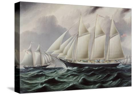 Schooners Nellie and Carrie 1875-James E^ Buttersworth-Stretched Canvas Print
