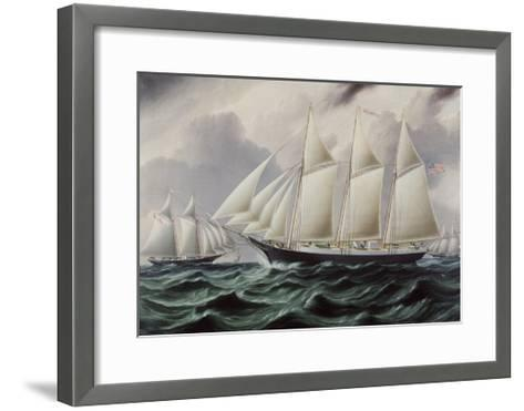 Schooners Nellie and Carrie 1875-James E^ Buttersworth-Framed Art Print