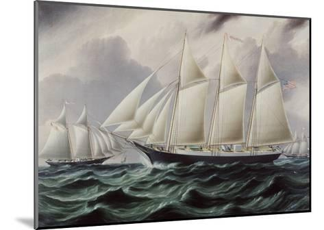 Schooners Nellie and Carrie 1875-James E^ Buttersworth-Mounted Giclee Print