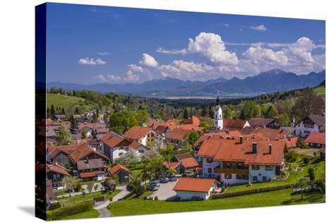Germany, Bavaria, Upper Bavaria, Pfaffenwinkel, H?rnle Region-Udo Siebig-Stretched Canvas Print