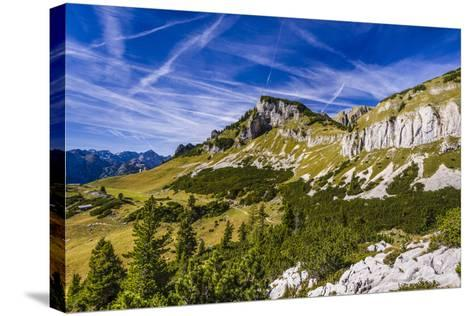 Austria, Tyrol, Achensee Region, Rofan (Mountains), Maurach Am Achensee-Udo Siebig-Stretched Canvas Print