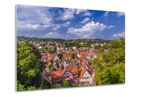 Germany, Baden-Wurttemberg, Neckartal (Neckar Valley), TŸbingen, Village-Udo Siebig-Metal Print