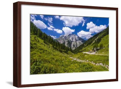 Austria, Tyrol, Karwendel Mountains, Alpenpark Karwendel, Alpine Village 'Eng'-Udo Siebig-Framed Art Print