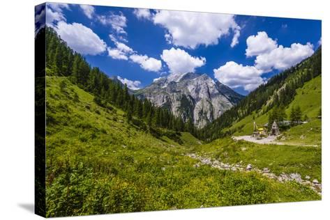 Austria, Tyrol, Karwendel Mountains, Alpenpark Karwendel, Alpine Village 'Eng'-Udo Siebig-Stretched Canvas Print