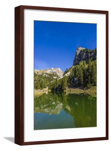 Austria, Tyrol, Achensee Region, Rofan (Mountains), Maurach Am Achensee-Udo Siebig-Framed Art Print
