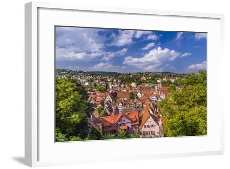 Germany, Baden-Wurttemberg, Neckartal (Neckar Valley), TŸbingen, Village-Udo Siebig-Framed Art Print