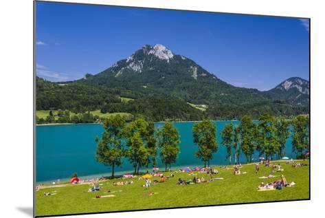 Austria, Salzburg Country, Salzkammergut, Fuschl Am See, Lake Fuschlsee-Udo Siebig-Mounted Photographic Print