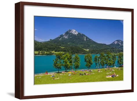 Austria, Salzburg Country, Salzkammergut, Fuschl Am See, Lake Fuschlsee-Udo Siebig-Framed Art Print