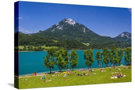 Austria, Salzburg Country, Salzkammergut, Fuschl Am See, Lake Fuschlsee-Udo Siebig-Stretched Canvas Print