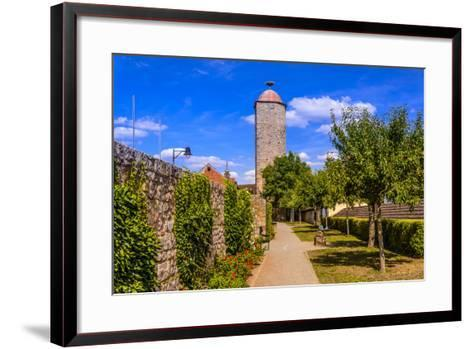 Germany, Bavaria, Lower Franconia, 'FrŠnkisches Saaletal' (Saale Valley), Hammelburg-Udo Siebig-Framed Art Print