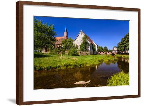 Germany, Bavaria, Lower Franconia, 'Fr?nkisches Saaletal' (Saale Valley), Gr?fendorf-Udo Siebig-Framed Art Print