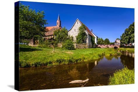 Germany, Bavaria, Lower Franconia, 'Fr?nkisches Saaletal' (Saale Valley), Gr?fendorf-Udo Siebig-Stretched Canvas Print