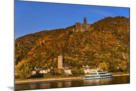 Germany, Rhineland-Palatinate, Upper Middle Rhine Valley, Sankt Goarshausen, District Wellmich-Udo Siebig-Mounted Photographic Print