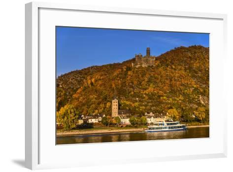 Germany, Rhineland-Palatinate, Upper Middle Rhine Valley, Sankt Goarshausen, District Wellmich-Udo Siebig-Framed Art Print