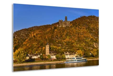 Germany, Rhineland-Palatinate, Upper Middle Rhine Valley, Sankt Goarshausen, District Wellmich-Udo Siebig-Metal Print