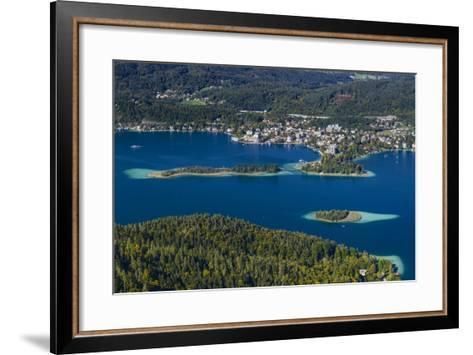 Austria, Carinthia, W?rthersee, P?rtschach, 'Schlangeninsel'-Udo Siebig-Framed Art Print