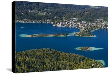 Austria, Carinthia, W?rthersee, P?rtschach, 'Schlangeninsel'-Udo Siebig-Stretched Canvas Print