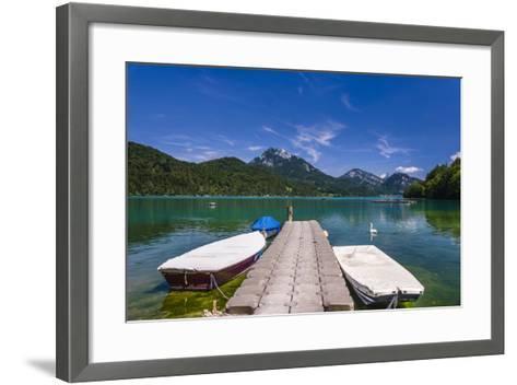 Austria, Salzburg Country, Salzkammergut, Fuschl Am See, Lake Fuschlsee, West Shore Against Stack-Udo Siebig-Framed Art Print