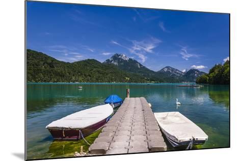 Austria, Salzburg Country, Salzkammergut, Fuschl Am See, Lake Fuschlsee, West Shore Against Stack-Udo Siebig-Mounted Photographic Print