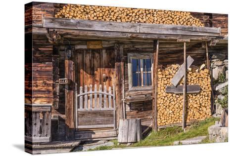 Austria, Tyrol, S?lllandl, Kaisergebirge, Scheffau, Mountain Hut at Brandstadl-Udo Siebig-Stretched Canvas Print