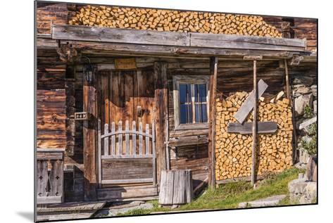 Austria, Tyrol, S?lllandl, Kaisergebirge, Scheffau, Mountain Hut at Brandstadl-Udo Siebig-Mounted Photographic Print