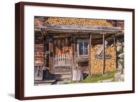 Austria, Tyrol, S?lllandl, Kaisergebirge, Scheffau, Mountain Hut at Brandstadl-Udo Siebig-Framed Art Print