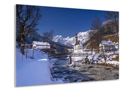 Germany, Bavaria, Upper Bavaria, Berchtesgaden, Ramsau Bei Berchtesgaden-Udo Siebig-Metal Print