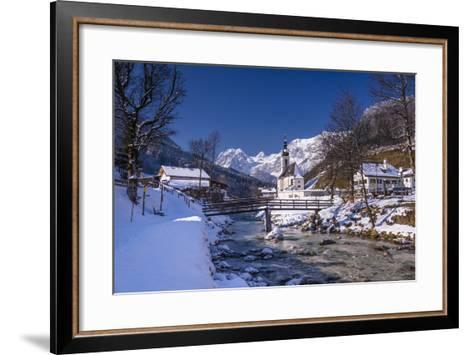 Germany, Bavaria, Upper Bavaria, Berchtesgaden, Ramsau Bei Berchtesgaden-Udo Siebig-Framed Art Print