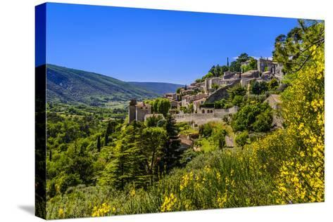 France, Provence, Vaucluse, Bonnieux, View of the Village-Udo Siebig-Stretched Canvas Print