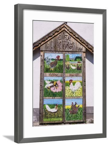 Germany, Bavaria, Upper Bavaria, T?lzer Land, Schlehdorf Am Kochelsee, Sales Cupboard-Udo Siebig-Framed Art Print