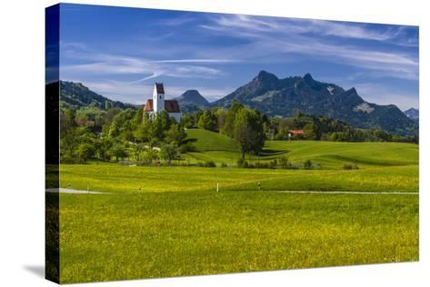 Germany, Bavaria, Upper Bavaria, Chiemgau, Samerberg (Mountain-Udo Siebig-Stretched Canvas Print