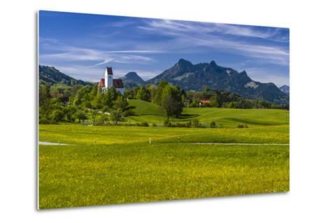 Germany, Bavaria, Upper Bavaria, Chiemgau, Samerberg (Mountain-Udo Siebig-Metal Print