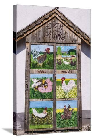 Germany, Bavaria, Upper Bavaria, T?lzer Land, Schlehdorf Am Kochelsee, Sales Cupboard-Udo Siebig-Stretched Canvas Print