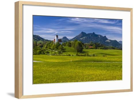 Germany, Bavaria, Upper Bavaria, Chiemgau, Samerberg (Mountain-Udo Siebig-Framed Art Print