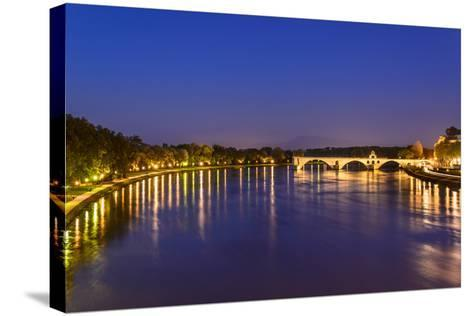 France, Provence, Vaucluse, Avignon, Rh™ne Shore-Udo Siebig-Stretched Canvas Print