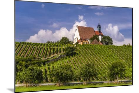 Germany, Bavaria, Lower Franconia, Mainfranken, Volkach, Pilgrimage Church Maria in the Vineyard-Udo Siebig-Mounted Photographic Print