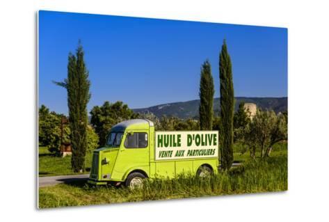 France, Provence, Vaucluse, Coustellet, Olive Mill, Pickup Van Citroen Type H, Advertising Vehicle-Udo Siebig-Metal Print