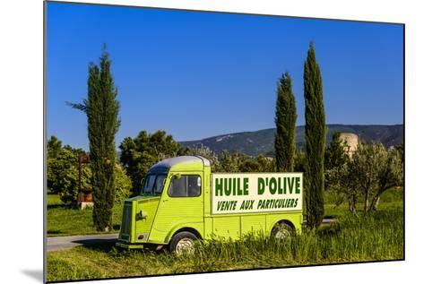 France, Provence, Vaucluse, Coustellet, Olive Mill, Pickup Van Citroen Type H, Advertising Vehicle-Udo Siebig-Mounted Photographic Print
